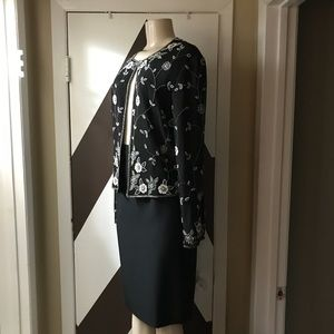 NWOT PAPELL boutique evenings silk top skirt sets.